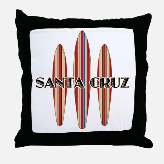 Santa Cruz Surf Boards Throw Pillow