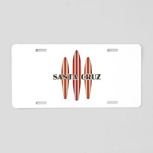 Santa Cruz Surf Boards Aluminum License Plate