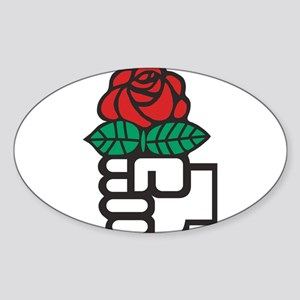 Socialism - The Fist and Red Rose Symbol Sticker