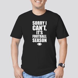 Sorry I Can't, It's Fo Men's Fitted T-Shirt (dark)