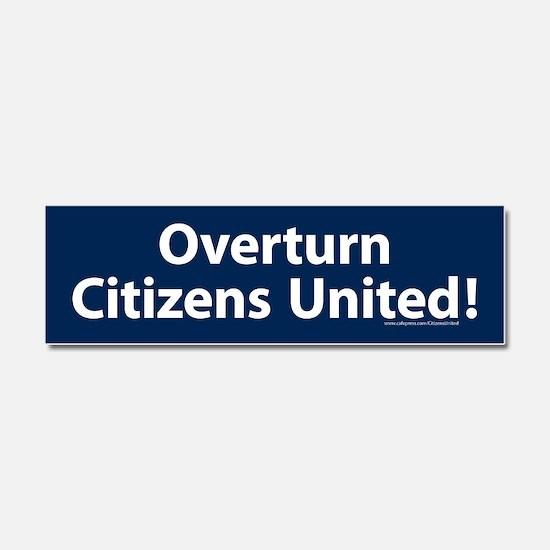 Overturn Citizens United Car Magnet 10 X 3