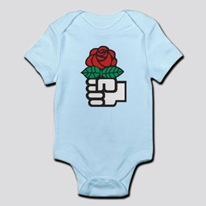 Socialism - The Fist and Red Rose Symbol Body Suit