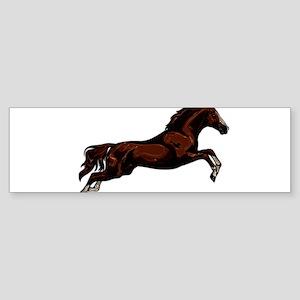 Metallic Jumping Horse Bumper Sticker