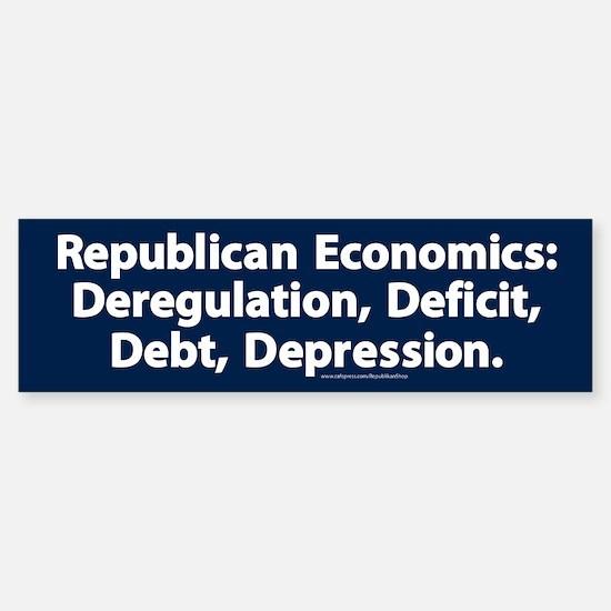 Republican Economics Bumper Bumper Bumper Sticker