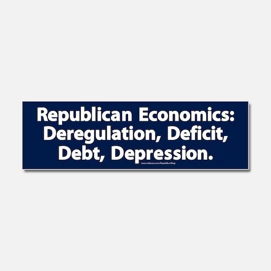 Republican Economics Car Magnet 10 x 3