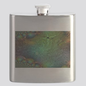 Iridescent Abstract Bubbles Flask