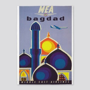 Baghdad Vintage Travel Poster 5'x7'area Ru
