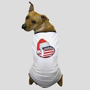 USA Santa Football Dog T-Shirt