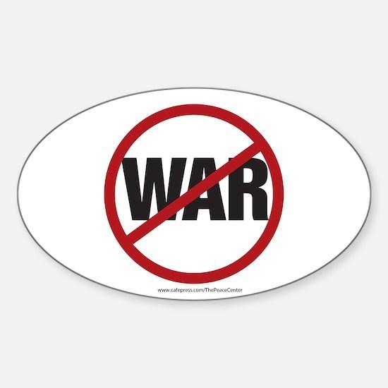 Anti-war Oval Decal