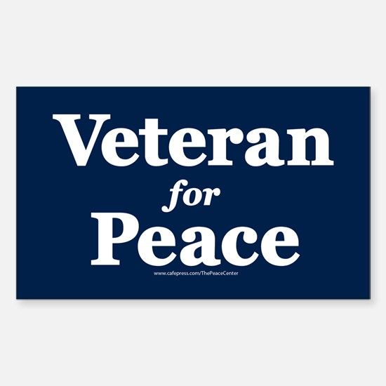 Veteran For Peace Sticker (rectangle)
