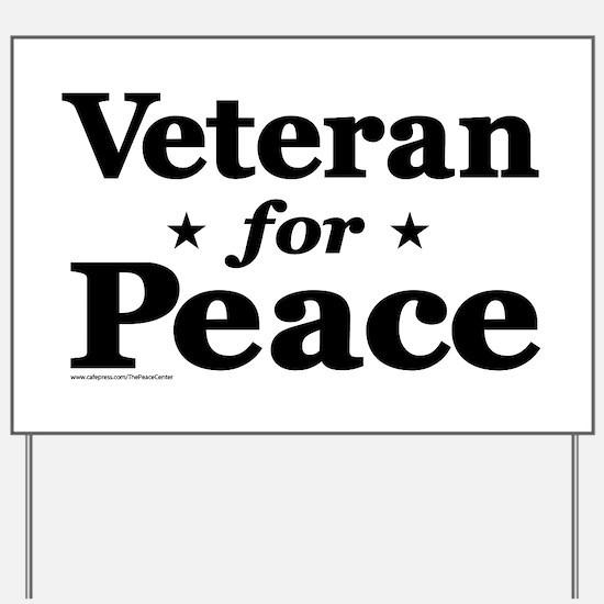 Veteran for Peace Yard Sign