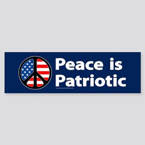 Peace is Patriotic Bumper Sticker with peace sign