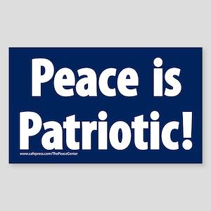 Peace is Patriotic Sticker (Rectangular)