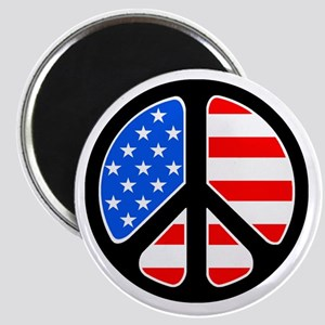 American Flag Peace Symbol Magnet