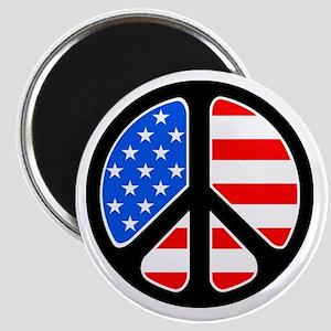 American Flag Peace Symbol Magnet