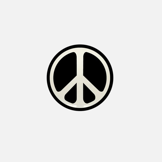 Classic Peace Symbol Mini Button