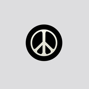 Classic Peace Symbol Mini Button