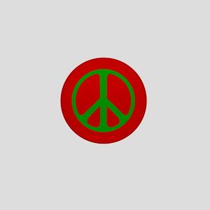 Christmas Peace Symbol Mini Button