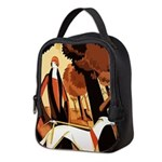 art deco borzoi Neoprene Lunch Bag