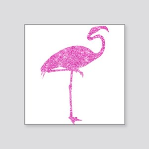 Vintage Pink Flamingo Collage Illustration Sticker