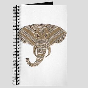Silver Metallic Elephant Head Journal