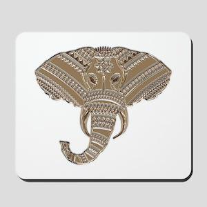 Silver Metallic Elephant Head Mousepad