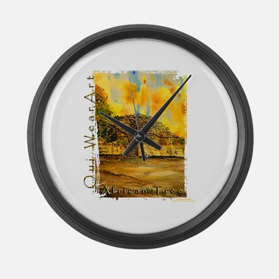 African Tree Large Wall Clock