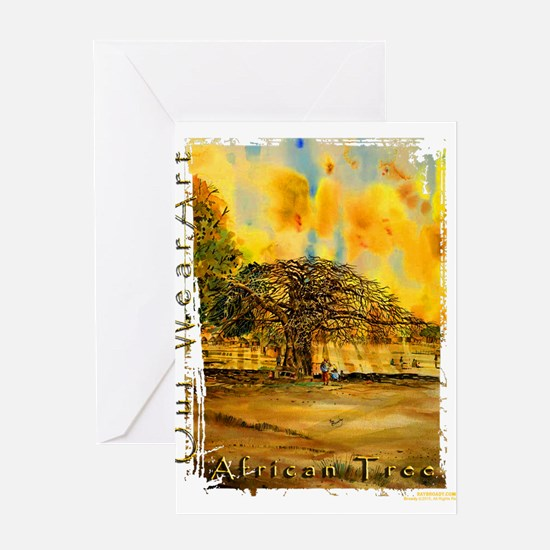 African Tree Greeting Cards