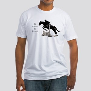 Cute Id Rather Be Riding Horse T-Shirt