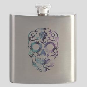 Blue & Purple Sugar Skull Flask