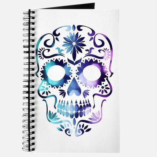 Blue & Purple Sugar Skull Journal