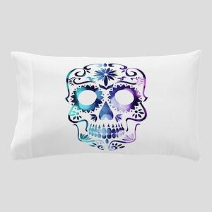 Blue & Purple Sugar Skull Pillow Case