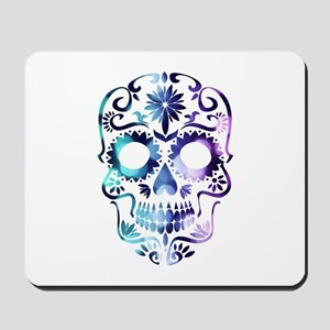 Blue & Purple Sugar Skull Mousepad