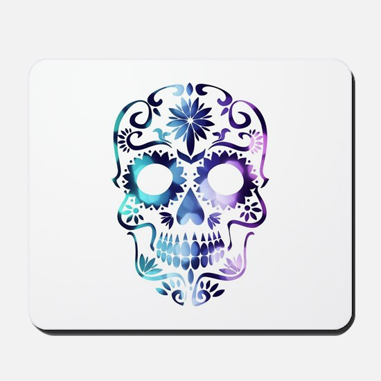 Blue & Purple Sugar Skull Mousepad