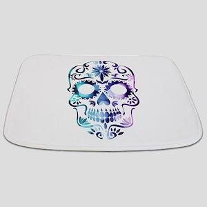 Blue & Purple Sugar Skull Bathmat