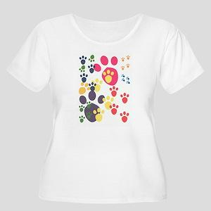 Paws Plus Size T-Shirt