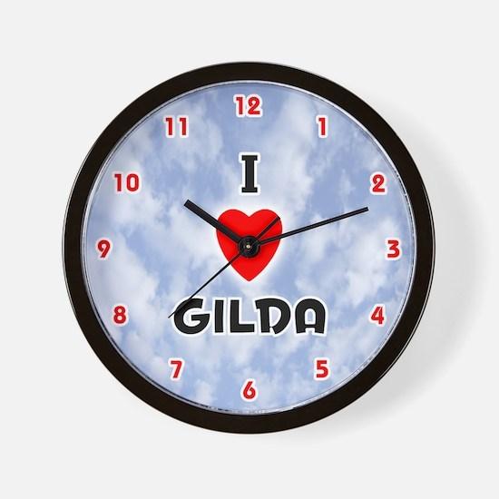 I Love Gilda (Red/Blk) Valentine Wall Clock