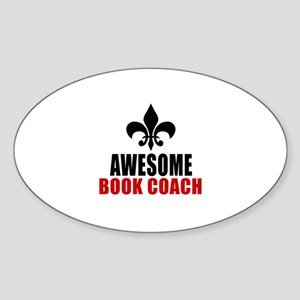 Awesome Book coach Sticker (Oval)