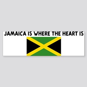 JAMAICA IS WHERE THE HEART IS Bumper Sticker