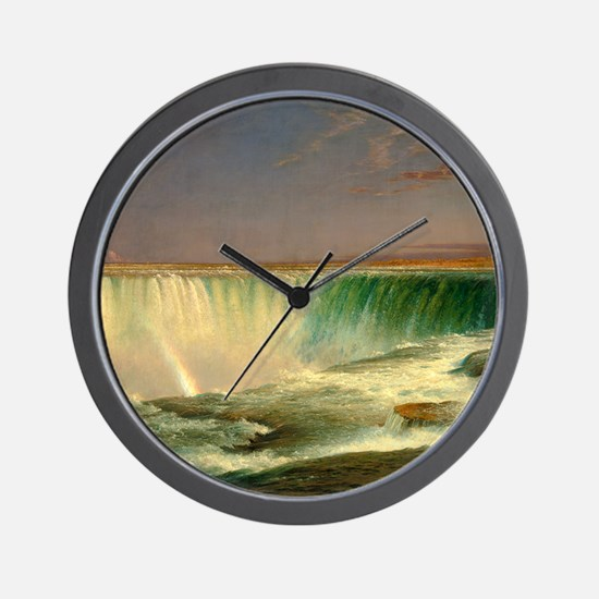 Niagara Falls by Frederic Edwin Church Wall Clock