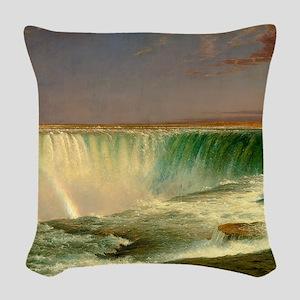 Niagara Falls by Frederic Edwin Church Woven Throw