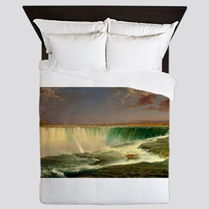 Niagara Falls by Frederic Edwin Church Queen Duvet