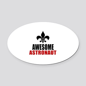 Awesome Astronaut Oval Car Magnet
