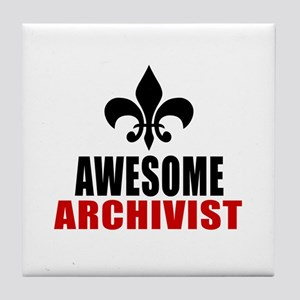 Awesome Archivist Tile Coaster
