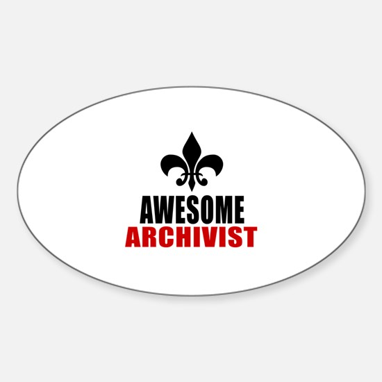 Awesome Archivist Sticker (Oval)