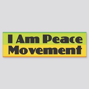 I Am Peace Movement Bumper Sticker