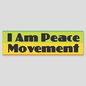 I Am Peace Movement Bumper Sticker