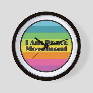I Am Peace Movement Wall Clock