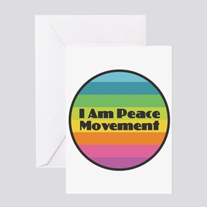 I Am Peace Movement Greeting Cards