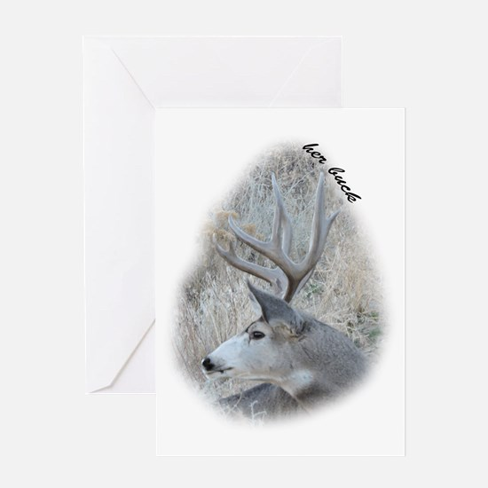Cute Stag and doe Greeting Card